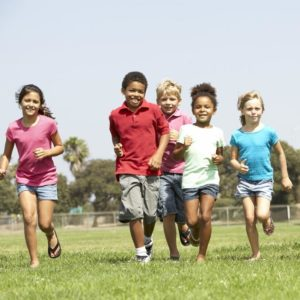 Cropped Children Running